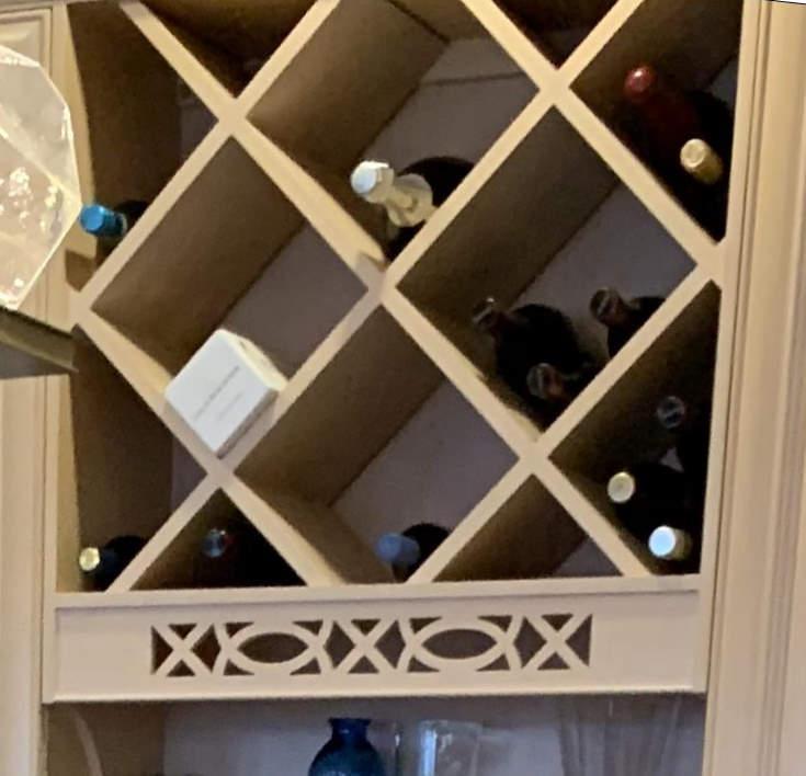 painting kitchen cabinet wine racks