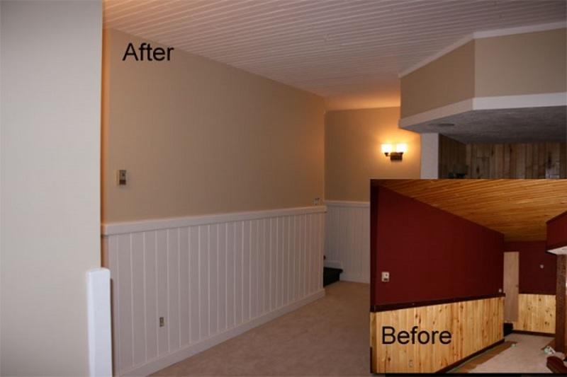 Painting Wood Ceilings, Beams, Trim