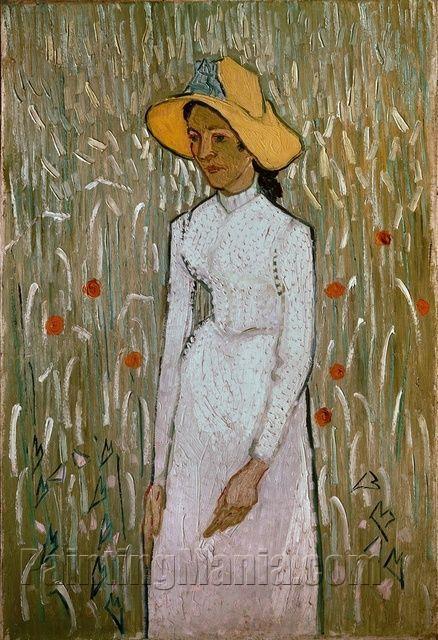 Woman In Field Painting : woman, field, painting, Woman, Field, Poppies, Emile, Bernard, Paintings