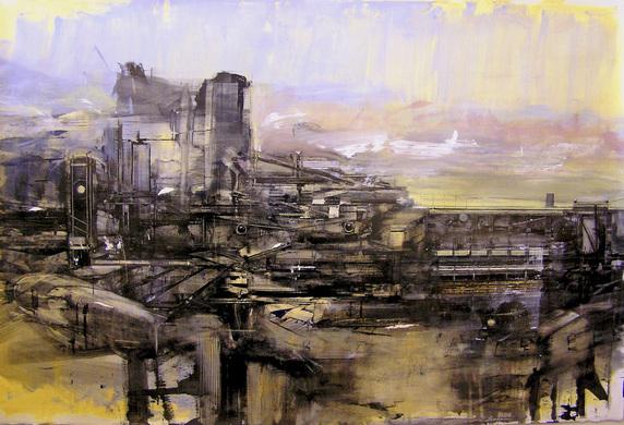 industrial landscape painting