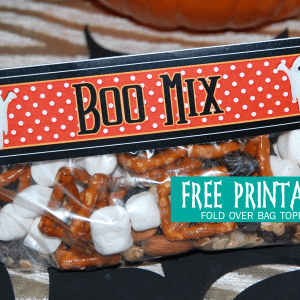 BOO MIX Free Printable Treat Bag Toppers