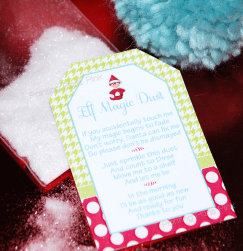 Elf on the Shelf Magic Dust {with free printable}