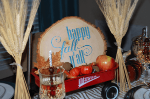 Happy Fall Y'all Wooden Centerpiece