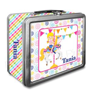 Carousel Horse Classic Tin Lunch Box