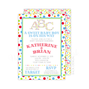 Alphabet Baby Shower Invitation