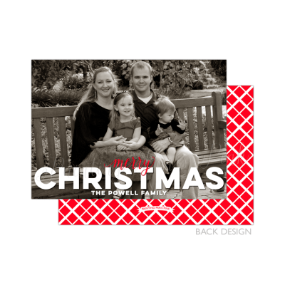 Merry Christmas Overlay Red