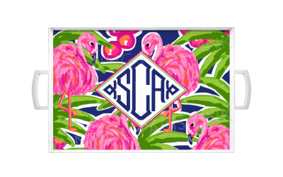 Flamingo Monogram - Island Collection