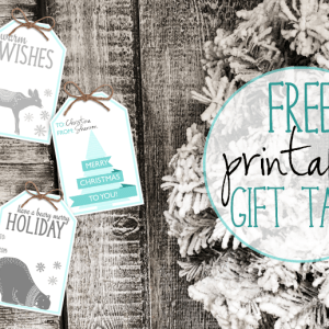 Three Sets of Free Holiday Printable Gift Tags