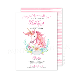 Magical Unicorn Party Invitation