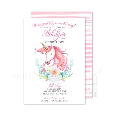 Magical Unicorn Party Invitation