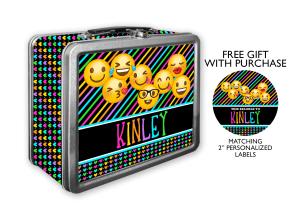 Emoji Metal Tin Lunch Box