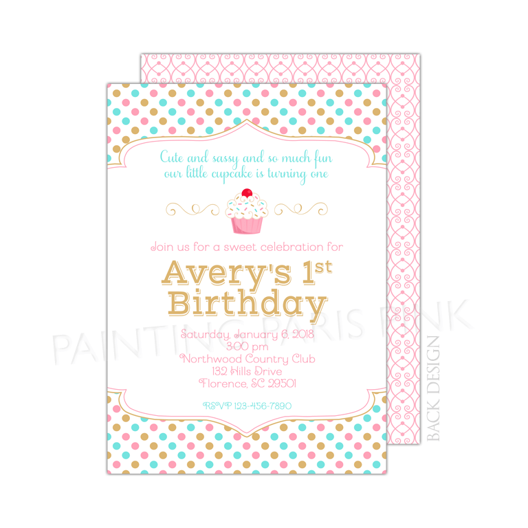 Little cupcake birthday party invitation little cupcake birthday party invitation filmwisefo