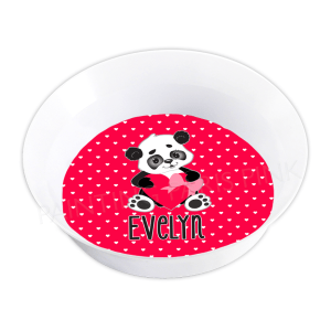 Valentine Panda Melamine Bowl