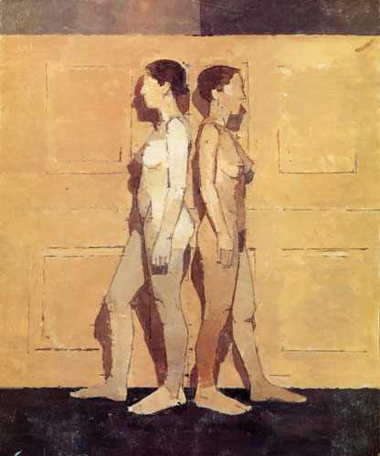 Euan Uglow, Tension, 1992-3 22 1/4 x 18 5/8 inches private collection