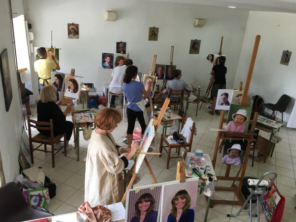 Portrait Painting Workshop In Burgundy - Ben Lustenhouwer