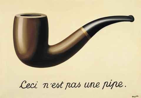 Рене Магритт, картина Это не трубка