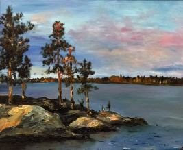 Екатерина Шукалова, картина Карельский закат