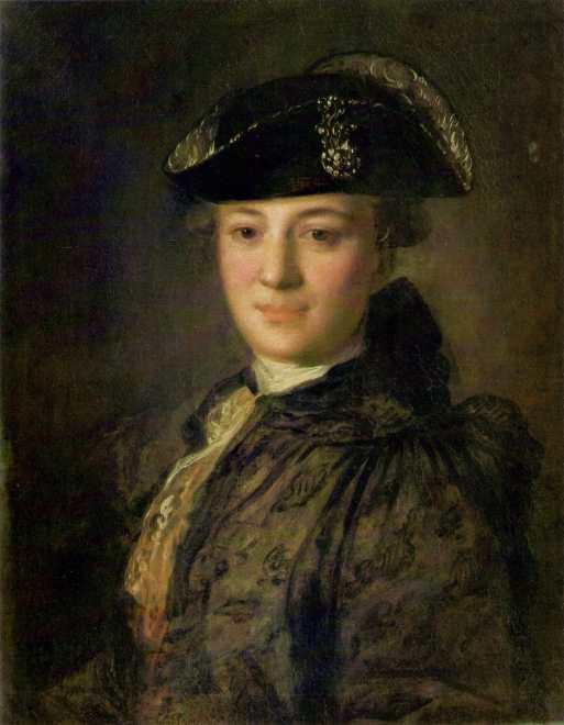 Рокотов, портрет неизвестного в треуголке