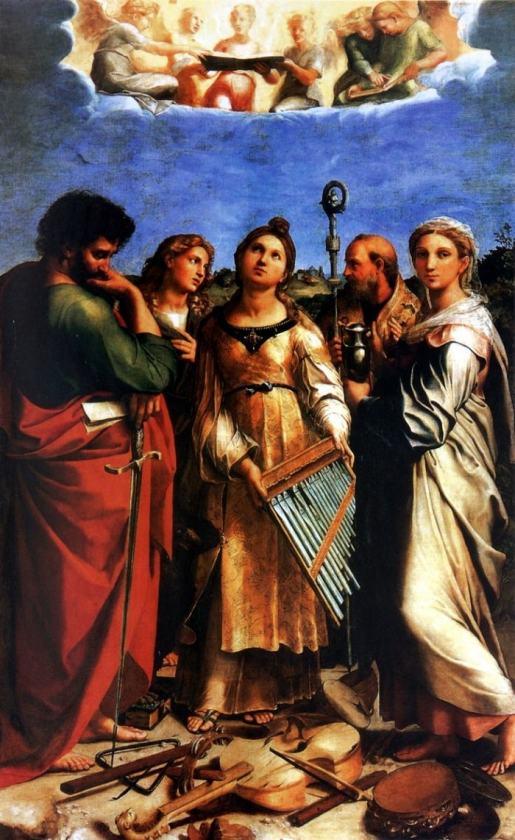 Рафаэль, Экстаз Святой Цецилии со святыми Павлом, Иоанном Евангелистом, Августином и Марией Магдалиной