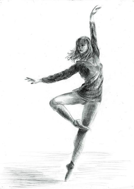 Екатерина Осипович, Танцовщица, карандаш