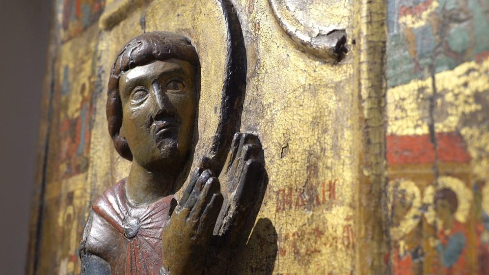 Великомученик Георгий, со сценами жития, выставка Шедевры Византии