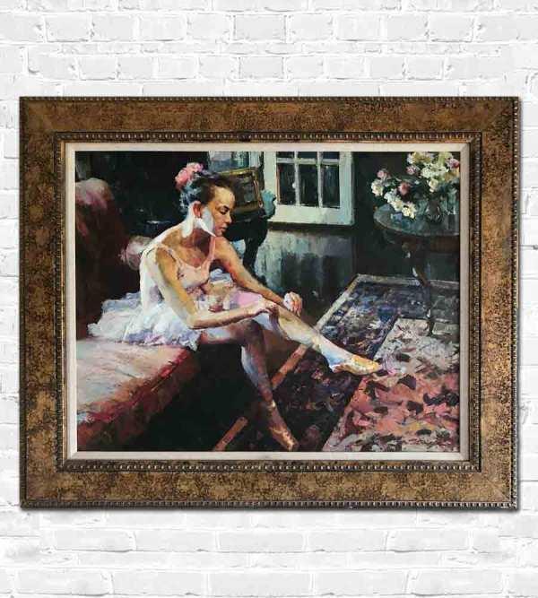Oli painting of Russian ballet dancer