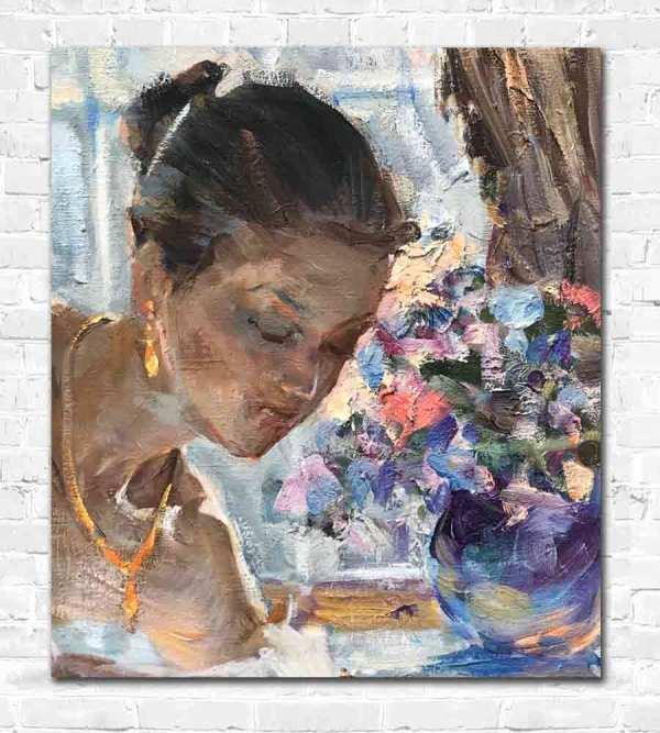 Semi-Naked Lady in Demenko Painting