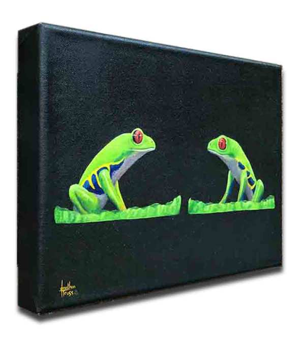 My Pad or Yours - Frog series collection original oil painting by Jonathan Truss