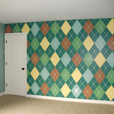 Argyle Wall Design