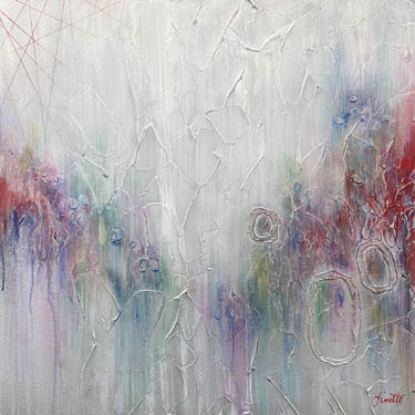 Clowning Around abstract painting