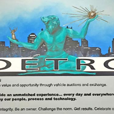 Copart Detroit Mural