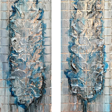 Fifty Two tree diptych art