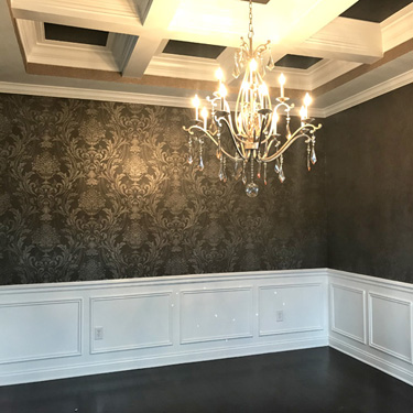 Colorwashed Damask with Glitter Ceiling
