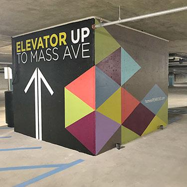 Modern Parking Garage Murals