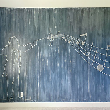 Music and Space Bedroom Murals