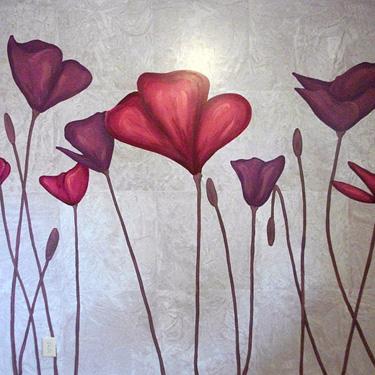 Modern Poppy Mural