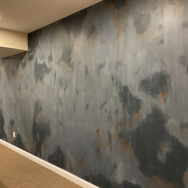 Faux Rugged Steel Finish