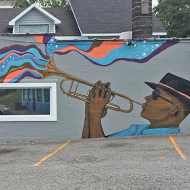 Musical Trumpet Mural