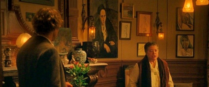 Gertrude Stein painting by Pablo Picasso in Midnight in Paris movie