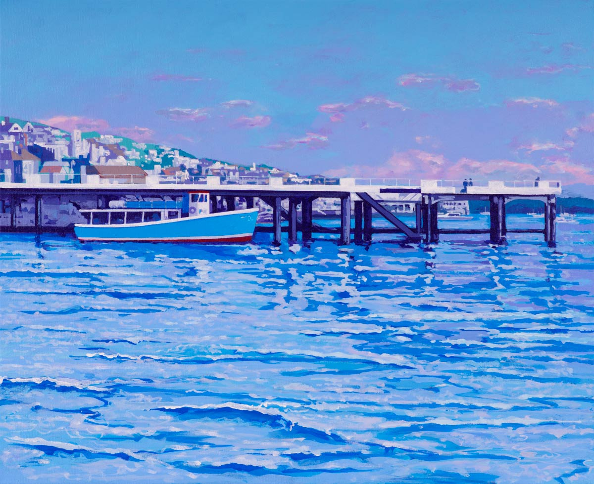 Painting of Falmouth Pier