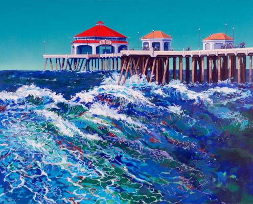 Painting of Huntington Beach Pier