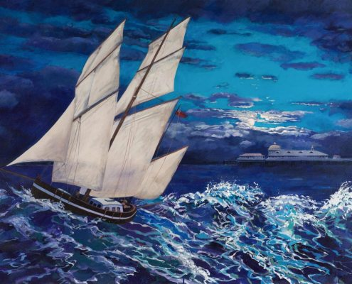 Painting of Llandudno Pier