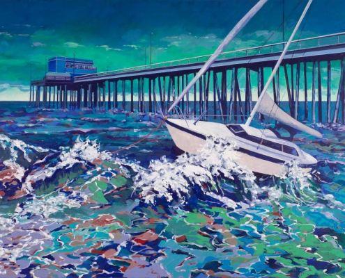 Painting of Newport Beach Pier
