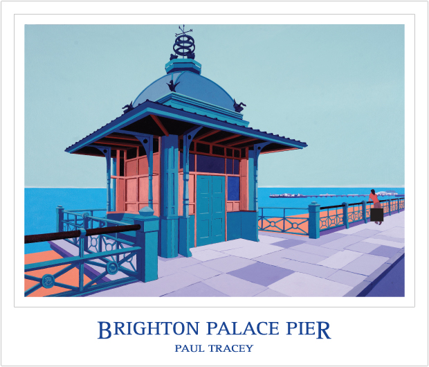 Poster of Brighton Palace Pier Painting