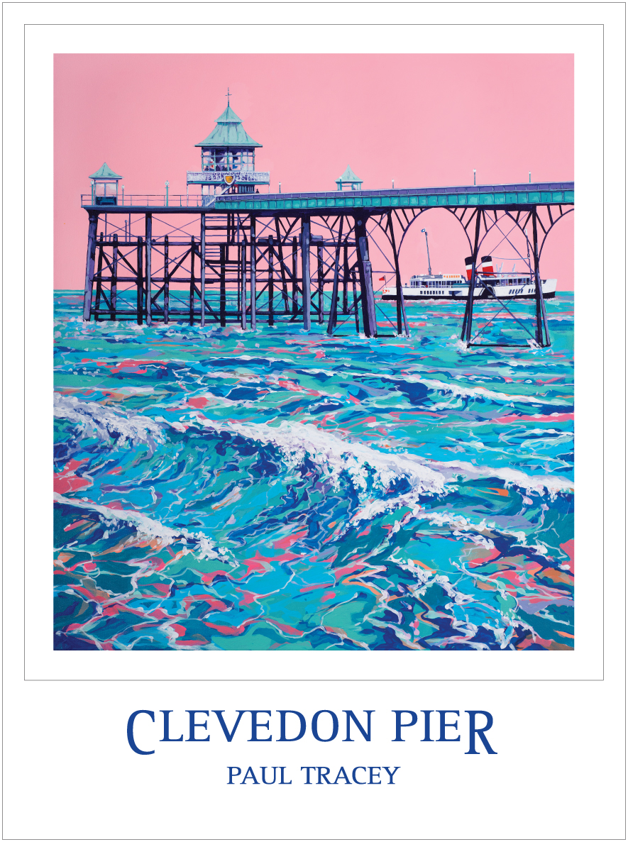 Poster of Clevedon Pier Painting