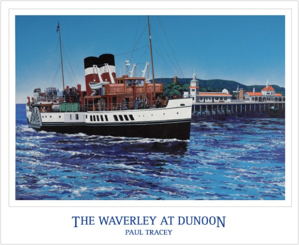 Poster of The Waverley at Dunoon Pier Painting