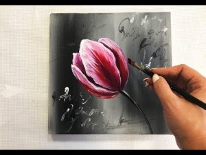 easy draw flowers canvas painting acrylic kotenko julia technique demonstration flower paintings drawing simple watercolor paintingsuppliesstore fortnite tj another inspired