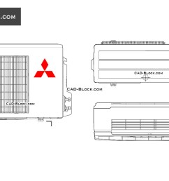 1080x760 mitsubishi air conditioning cad block free autocad drawings air conditioner drawing [ 1080 x 760 Pixel ]