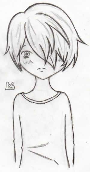 anime easy boy drawing drawings simple step beginners sketch draw sad steps boys sketches pencil paintingvalley
