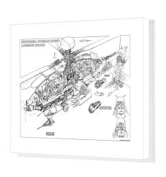 1000x1000 media storehouse print of boeing ah longbow apache drawing [ 1000 x 1000 Pixel ]